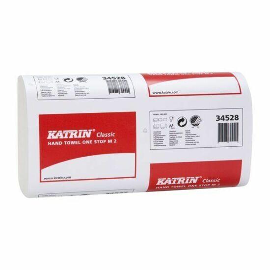 Katrin classic one stop M2 hajtogatott kéztörlő 2rtg 20x25,5cm 160lap fehérített 21cs/gyűjtő