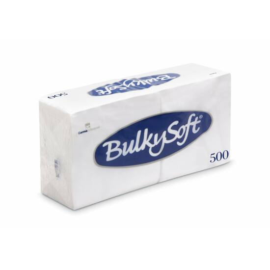 BulkySoft szalvéta fehér 1rtg 24x24cm 6x500db/gyűjtő