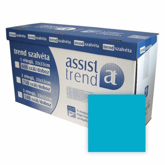 Trend szalvéta 1 rétegű 33x33 cm Caribean blue 600 szál/doboz