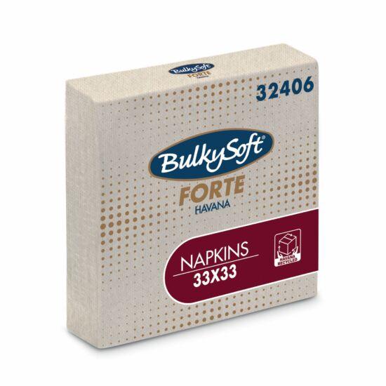 BulkySoft forte havana szalvéta 2rtg 33x33cm 20x100db/gyűjtő