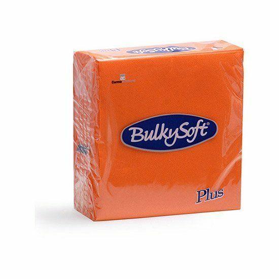 BulkySoft rainbow plus szalvéta narancs 2rtg 38x38cm 36x40db/gyűjtő