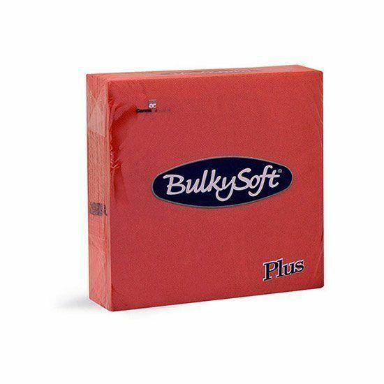BulkySoft rainbow plus szalvéta piros 2rtg 38x38cm 36x40db/gyűjtő