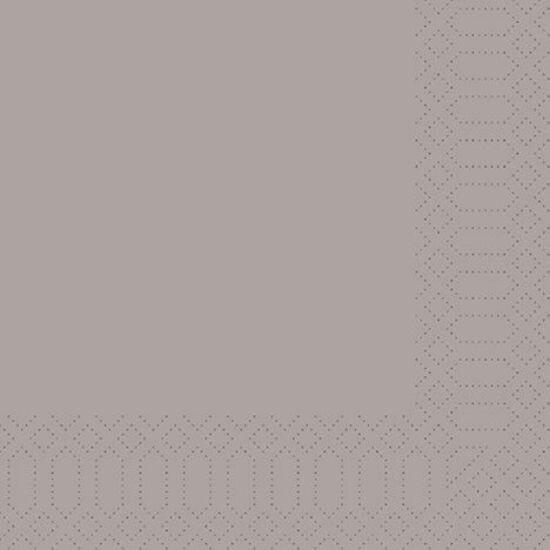 Duni szalvéta Greige 3rtg 33x33cm 4x250db/gyűjtő
