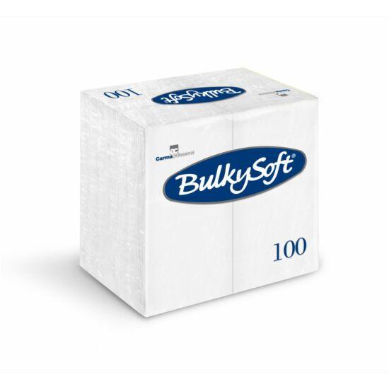 BulkySoft szalvéta fehér 3rtg 40x40cm 1/8 10x100db/gyűjtő