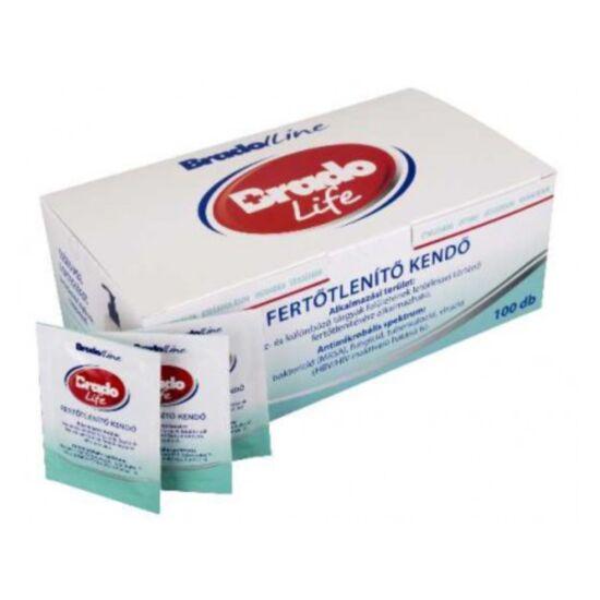 Bradolife fertőtlenítő kendő egyesével csomagolt 100db/gyűjtő