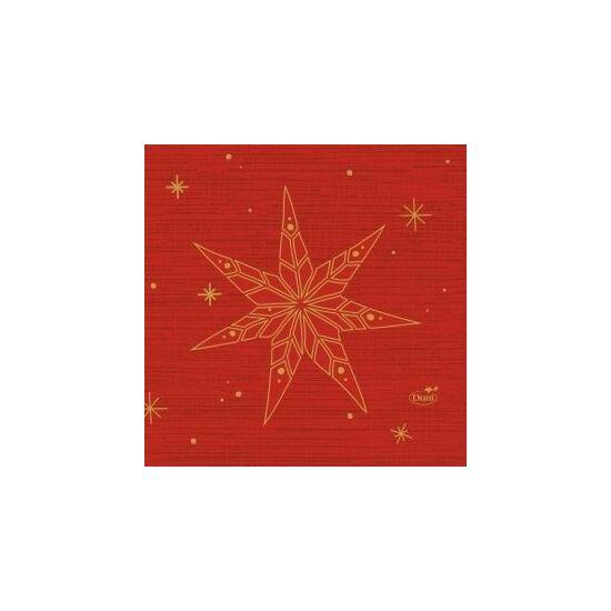 Duni szalvéta Star stories red 3rtg 24x24cm 20x50db/gyűjtő