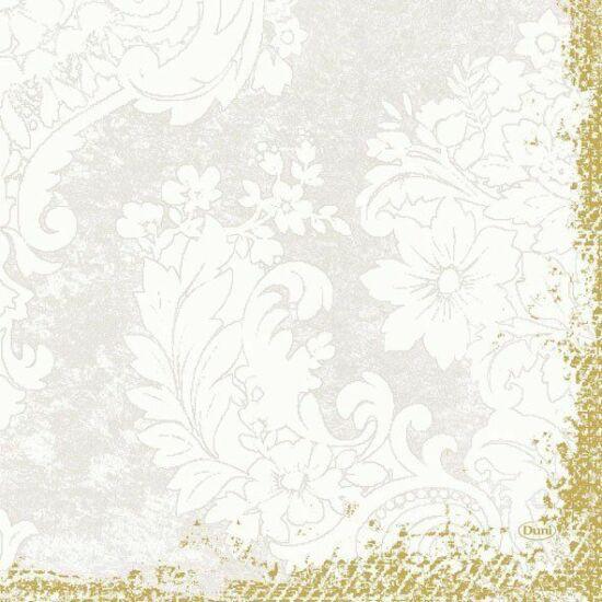 Duni szalvéta Royal white 3rtg 33x33cm 10x50db/gyűjtő