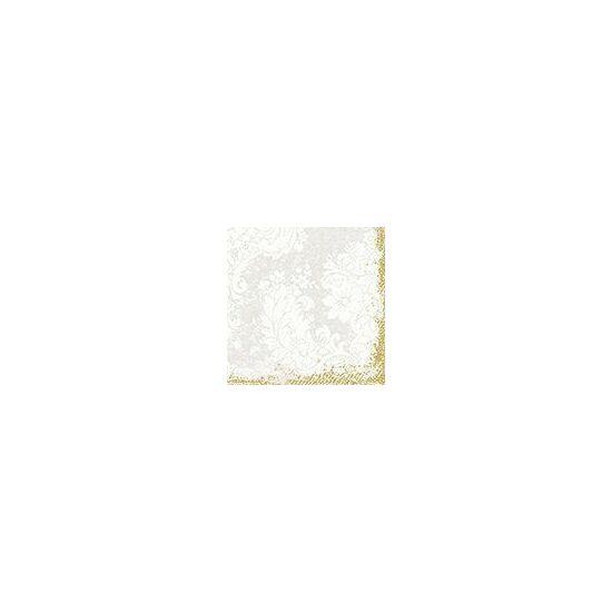 Duni szalvéta Royal white 3rtg 33x33cm 4x250db/gyűjtő