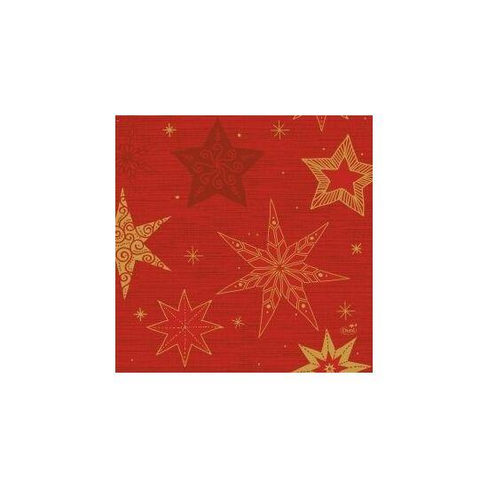 Duni szalvéta Star stories red 3rtg 33x33cm 10x50db/gyűjtő