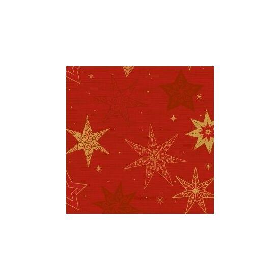 Duni szalvéta Star stories red 3rtg 40x40cm 4x250db/gyűjtő
