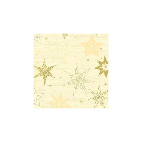 Duni szalvéta Star stories cream 3rtg 40x40cm 4x250db/gyűjtő