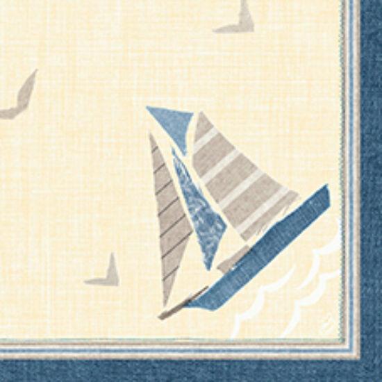 Duni classic szalvéta Seaway 4rtg 40x40cm 6x50db/gyűjtő