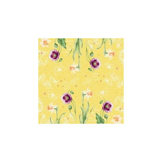 Duni classic szalvéta Spring lilies 4rtg 40x40cm 6x50db/gyűjtő