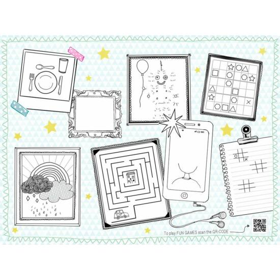 Duni papír alátét Keep drawing 30x40cm 4x250db/gyűjtő
