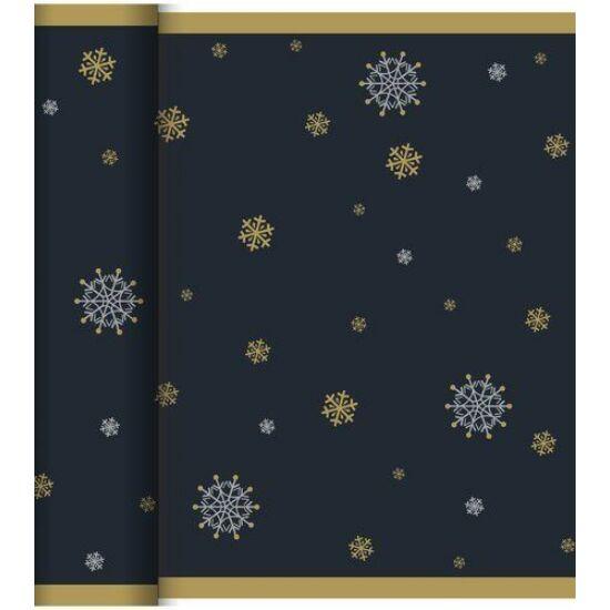 Dunicel Téte-a-Téte asztali futó Snowflake necklace black 0,4x24m 4tek/gyűjtő