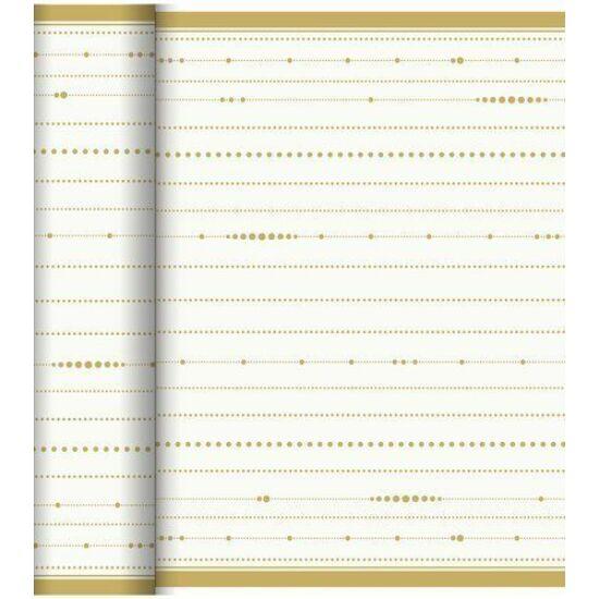Dunicel Téte-a-Téte asztali futó Festive Cheers white 0,4x24m 4tek/gyűjtő