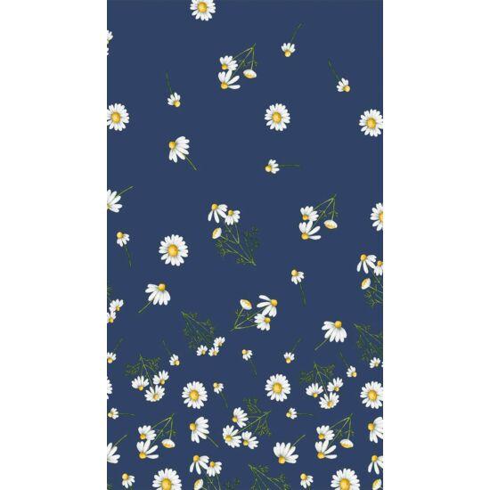 Dunisilk asztalterítő Pretty daisy blue 138x220cm 5db/gyűjtő