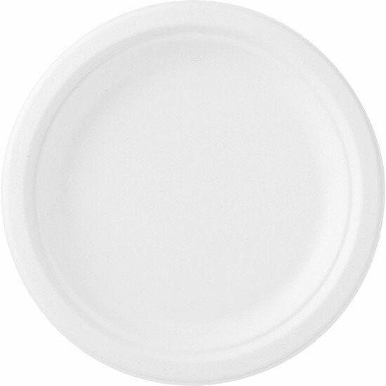 Duni Ecoecho Bagasse tányér fehér 22cm 8x50db/gyűjtő