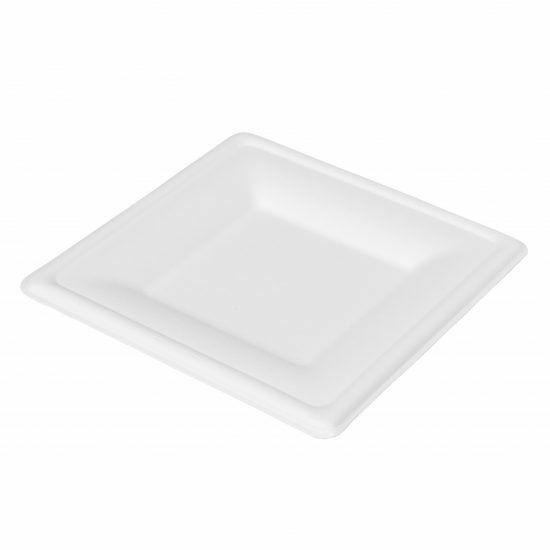 Duni Ecoecho Bagasse szögletes tányér fehér 16x16cm 20x50db/gyűjtő