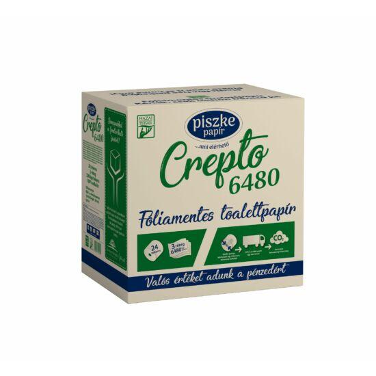 Crepto 6480 papírdobozos kistekercses toalettpapír 3rtg M9,5 D13 34,83m 270lap cell 24tek/gyűjtő