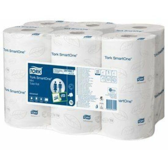 Tork Advanced SmartOne mini toalettpapír 2rtg 111,6m M:13,4cm D:14,9cm 620lap fehérített 12tek/csom