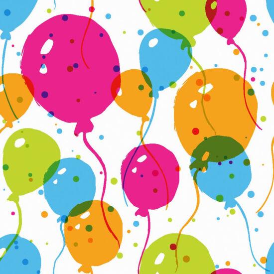 Duni szalvéta Splash balloons 3rtg 24x24cm 12x20db/gyűjtő