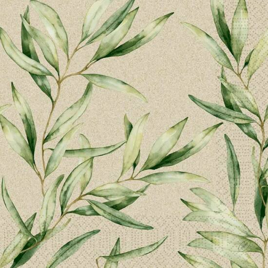 Duni szalvéta Foliage 3rtg 40x40cm 4x250db/gyűjtő