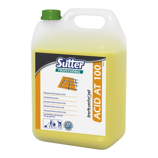 Sutter ACID AT 100 savas vízkőoldó tisztítószer 5kg 4kanna/gyűjtő