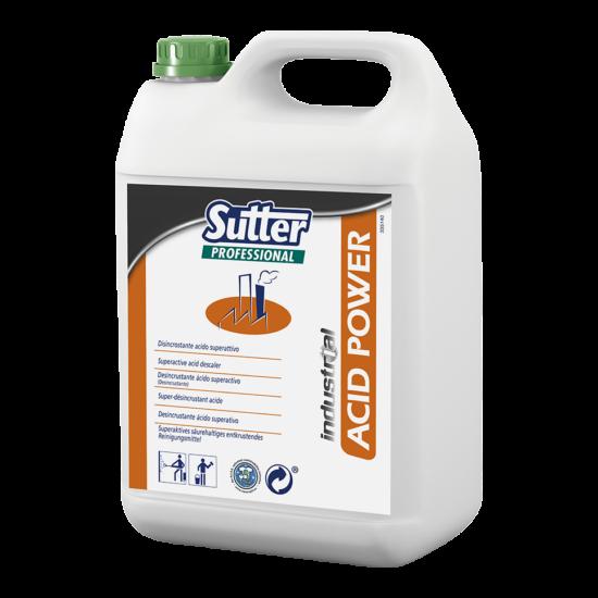 Sutter Acid Power erős savas vízkőoldó 5kg 4 kanna/gyűjtő