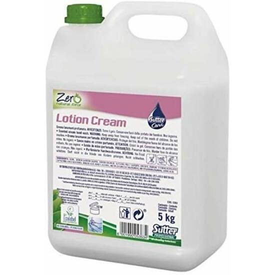 Sutter Zero Lotion Cream természetes alapú illatosított krémszappan 5kg 4 kanna/gyűjtő