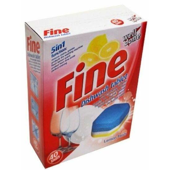 Fine 5 in 1 mosogatógép tabletta, 20g, 40 db/doboz
