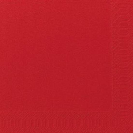 Duni szalvéta piros 3rtg 40x40cm 8x125db/gyűjtő