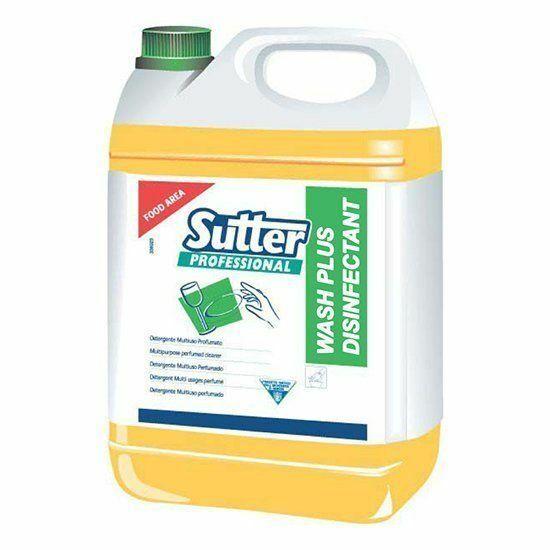 Sutter Wash Plus Disinfectant fertőtlenítő hatású kézi mosogatószer 5kg 4kanna/gyűjtő