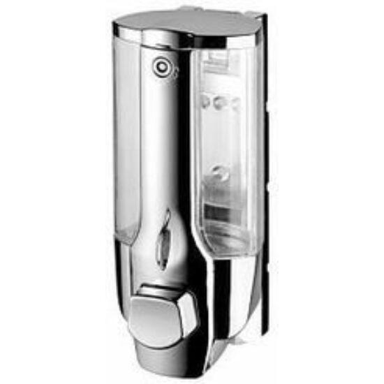 Bisk folyékony szappan adagoló ABS műanyag fényes ezüst 350ml