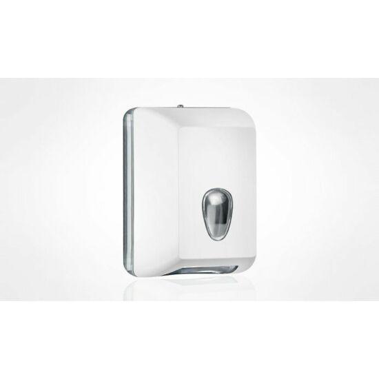 Trend hajtogatott toalettpapír adagoló műanyag 350lapos soft touch fehér