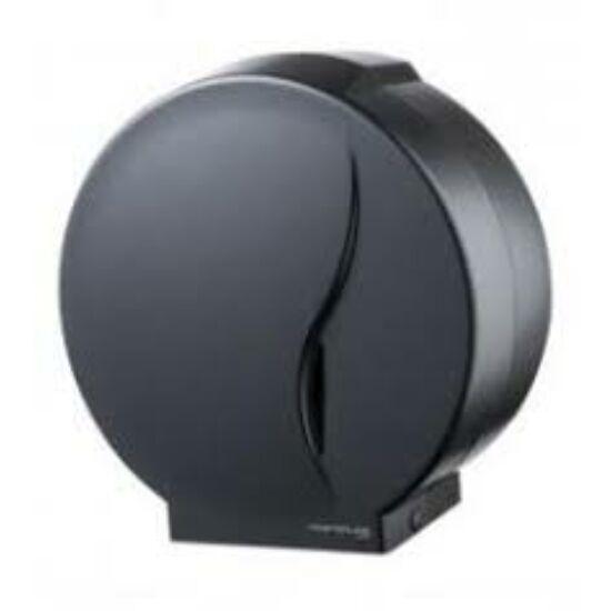 Bisk tekercses toalettpapír adagoló, 25cm, fekete, műanyag