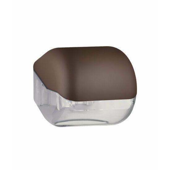 Trend kombinált kistekercses és hajtogatott eü. papír adagoló, ABS, soft touch, barna