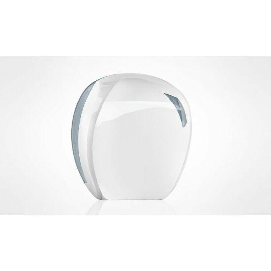 Trend mini tekercses toalettpapír adagoló 24 cm ABS fehér/átlátszó