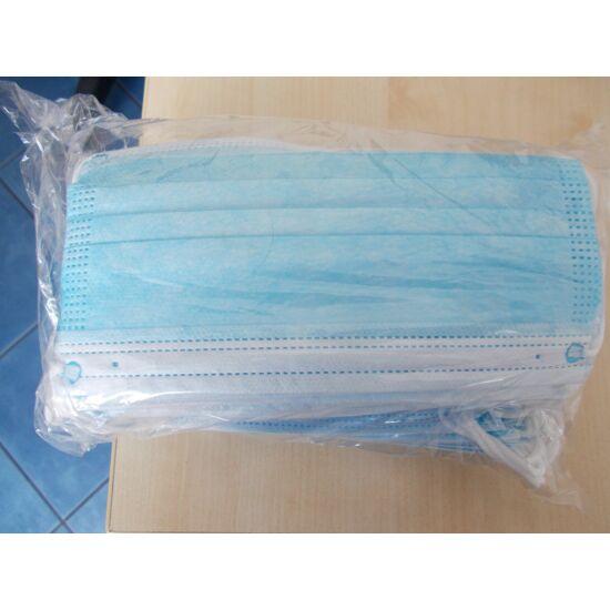 Szájmaszk 3 rétegű gumis kék40x50db/gyűjtő