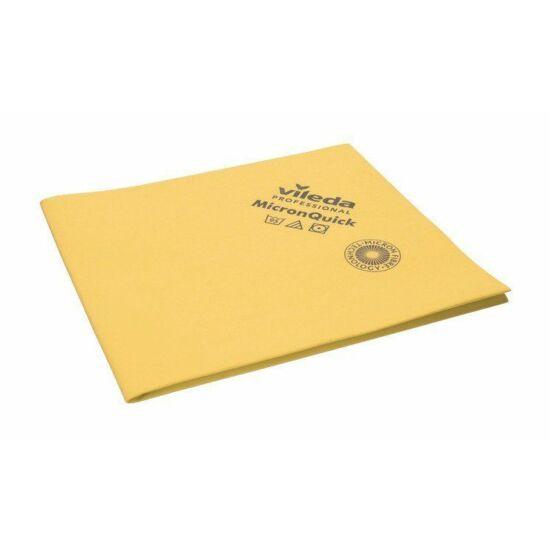 Vileda MicronQuick vegyszerálló törlőkendő sárga 38x40cm 5db/csomag