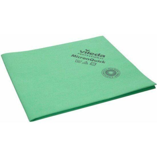 Vileda MicronQuick vegyszerálló törlőkendő zöld 38x40cm 5db/csomag
