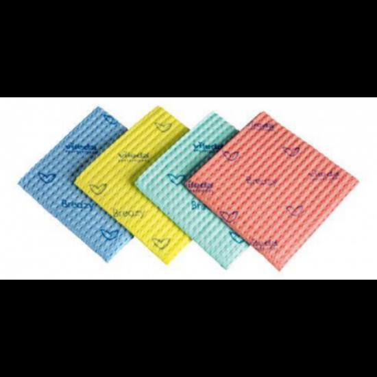 Vileda New Breazy antibakteriális törlőkendő piros 35x35cm 25db/csomag