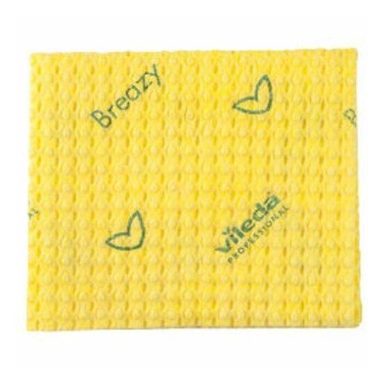 Vileda New Breazy antibakteriális törlőkendő sárga 35x35cm 25db/csomag
