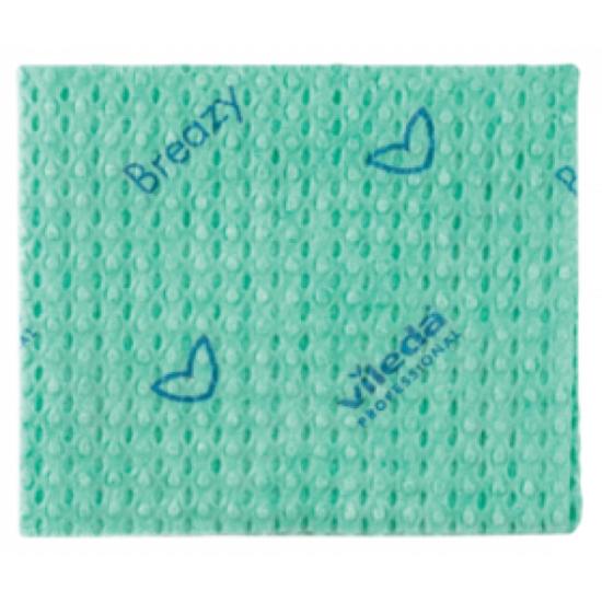 Vileda New Breazy antibakteriális törlőkendő zöld 35x35cm 25db/csomag