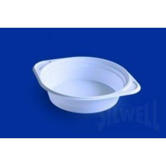 Füles gulyás tányér mikrózható, fehér 500 ml, PP, 10x100db