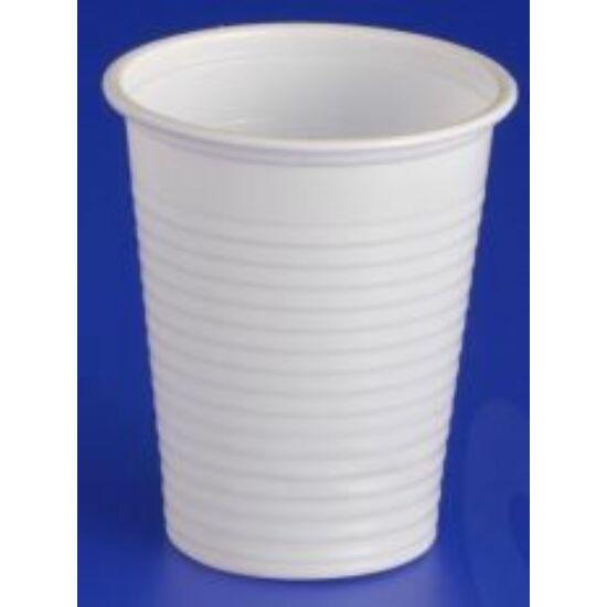 Műanyag pohár víztiszta 200ml 100db/cs
