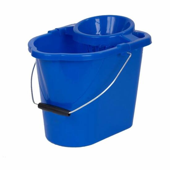Vikan műanyag vödör facsaróval, 15 l, kék
