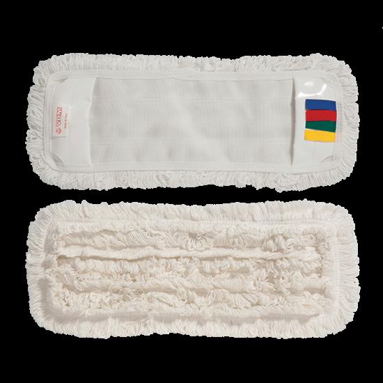VDM zsebes hurkolt mop fehér 50x13 cm színkódolt