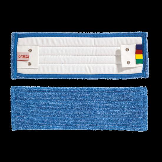 VDM szalagos bordás mikroszálas mop kék 40 cm színkódolt