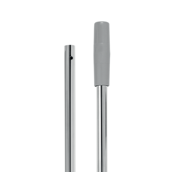 VDM krómozott fém nyél gyűrűs véggel 145 cm két részes